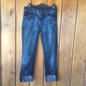 C of H cuffed Capri jeans dark wash skinnies 26